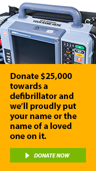Donate today and help equip our ambulance officers with new defibrillators.